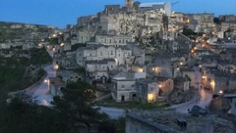 Overview of Matera at night